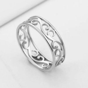 Stainless Steel Filigree Ring Band